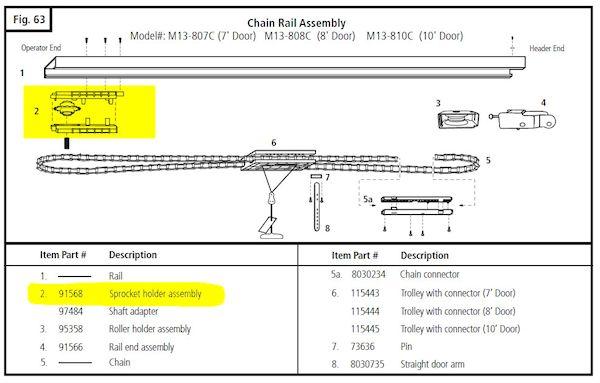 91568 Marantec Chain Sprocket Diagram