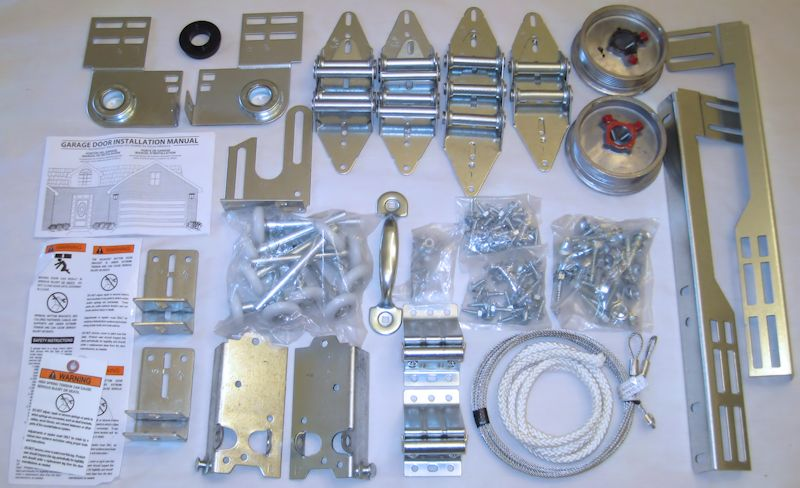 Garage Door Hardware Kit - 7' High 1-Car Wide Door