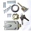 Exterior Lock Cylinder, Thumb Latch, Keys and Fasteners